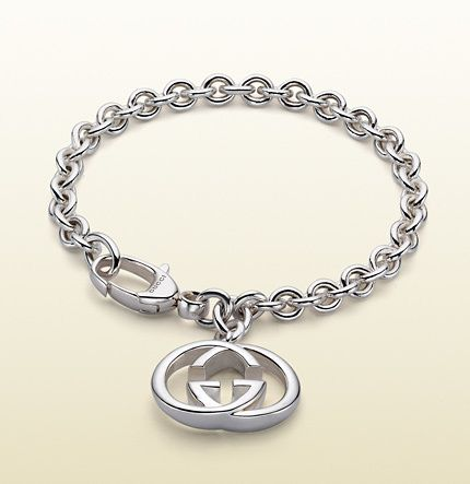Gucci bracelet with interlocking G motif charm on shopstyle.com