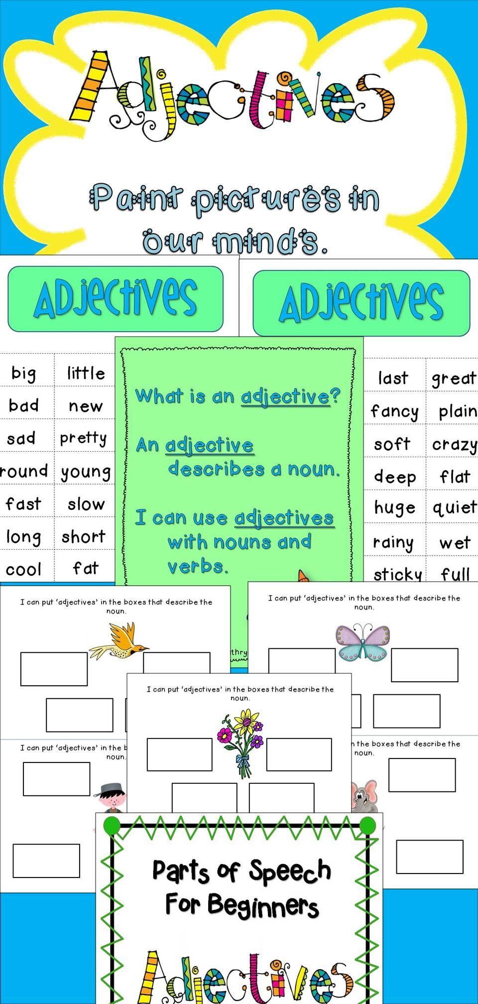 Parts Of Speech Activities Adjectives Parts Of Speech Adjectives Parts Of Speech Activities