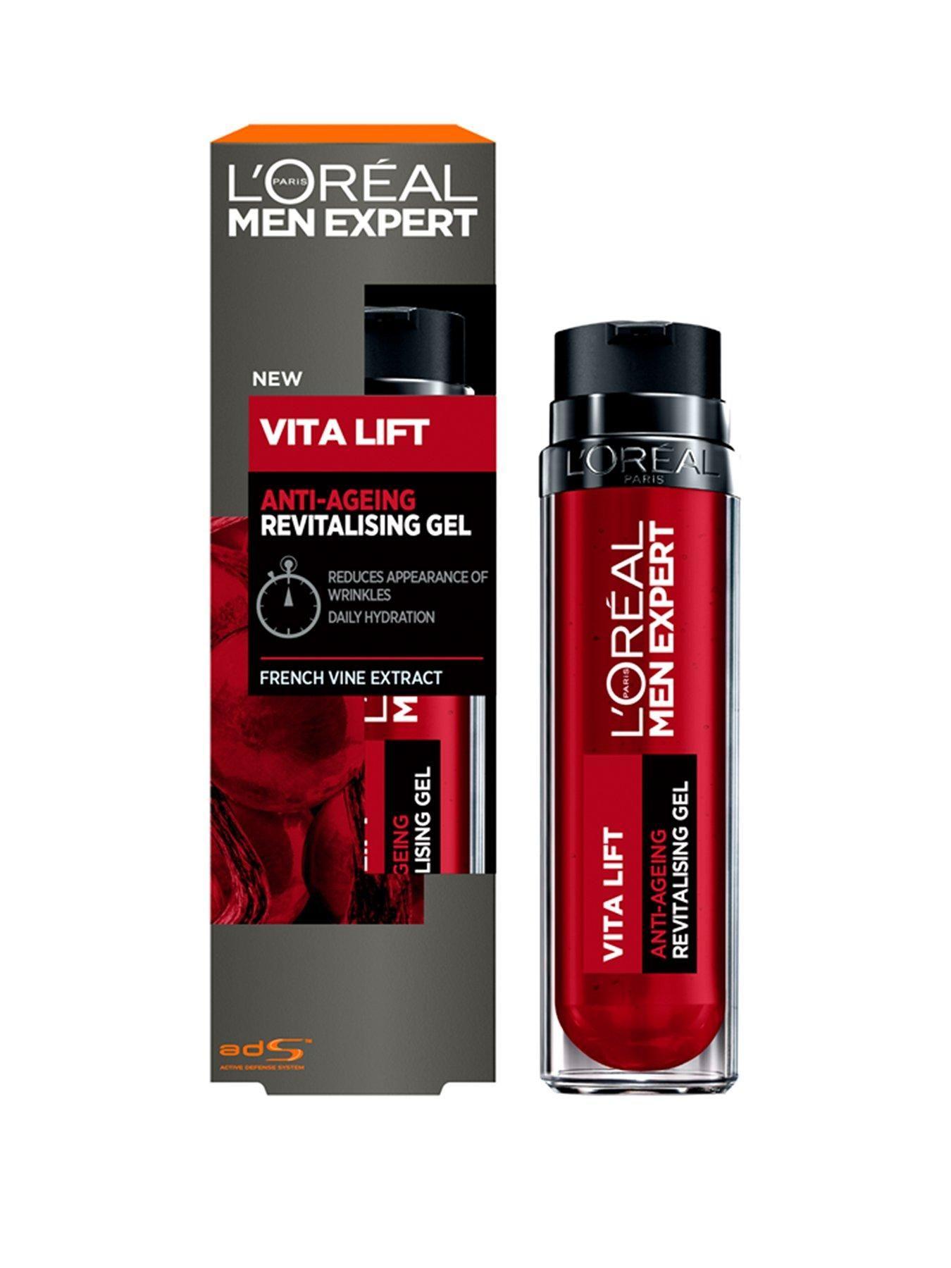 L Oreal Paris Men Expert Vitalift Anti Wrinkle Gel Moisturiser 50ml In One Colour Loreal Paris Moisturizer Anti Wrinkle
