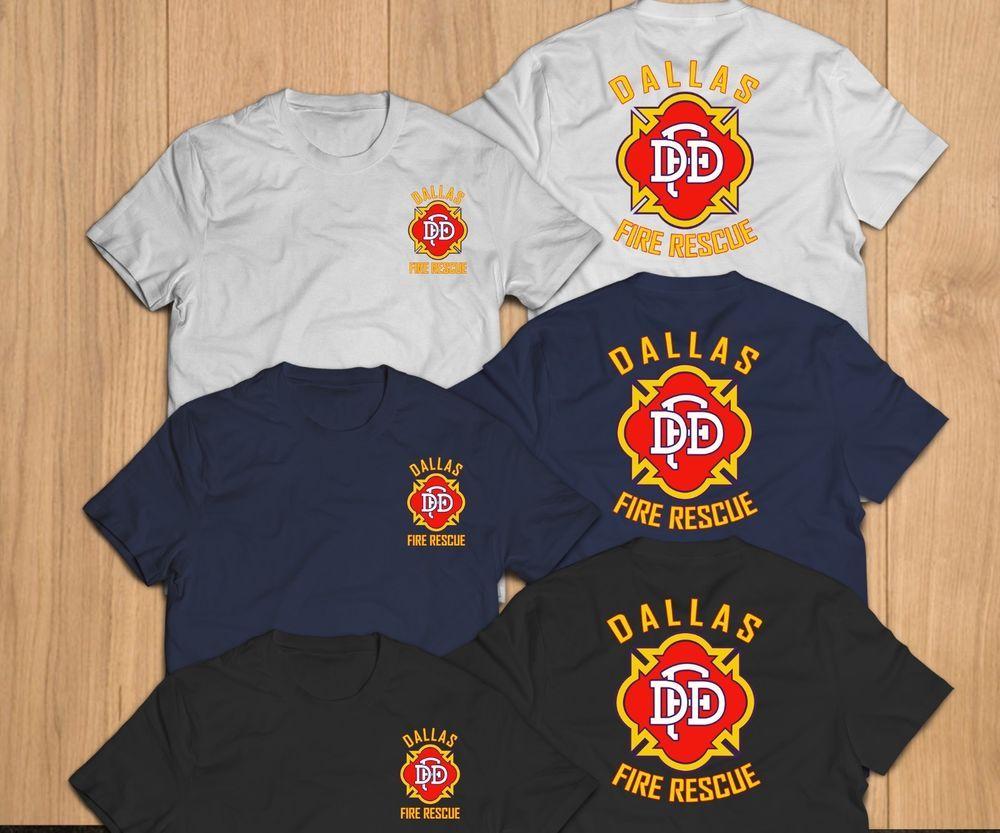 New Dallas Fire Department Unit Rescue Custom T Shirt Tee Tshirt