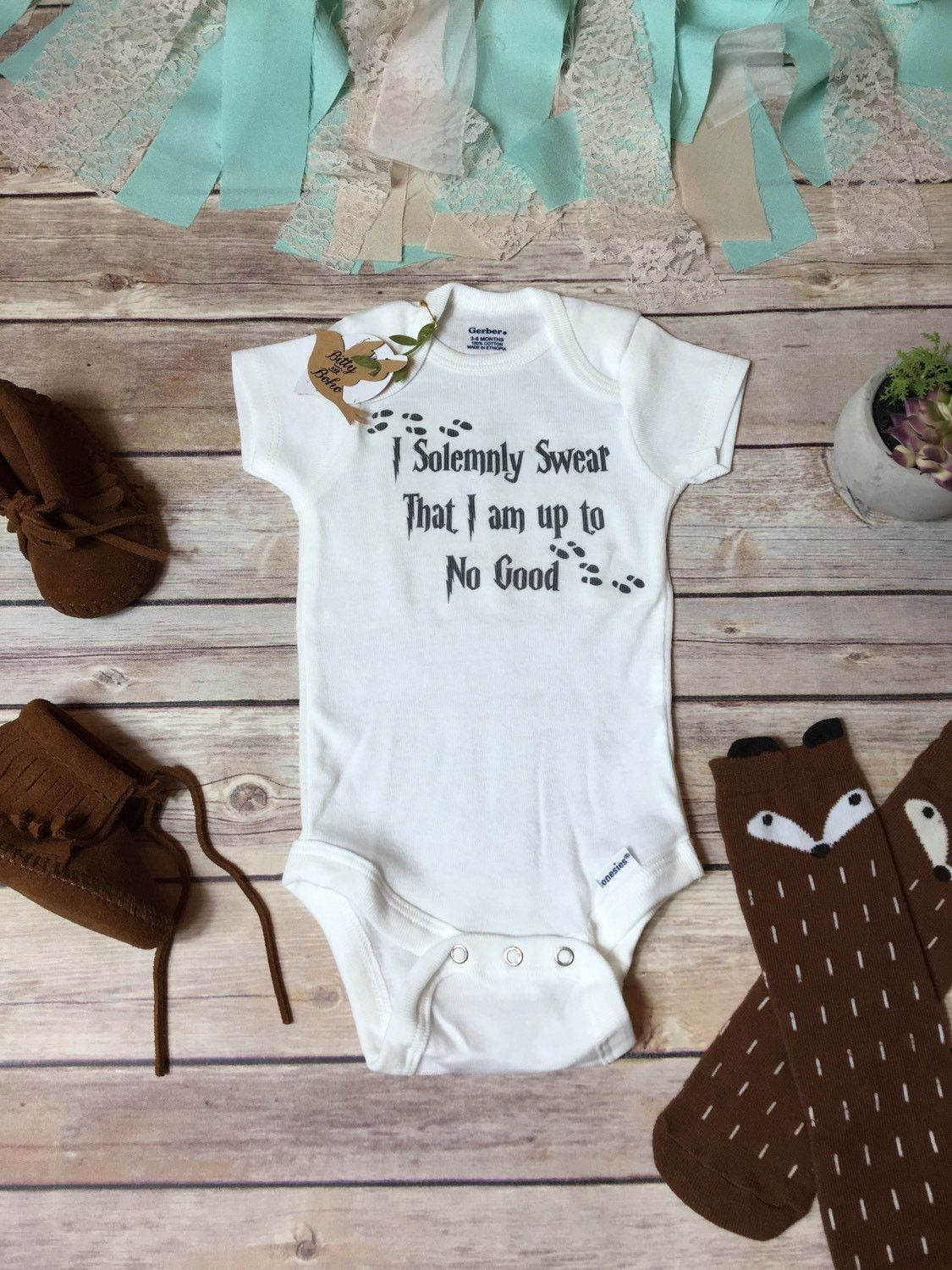I Solemnly Swear That I Am Up To No Good Onesie Harry Potter Baby