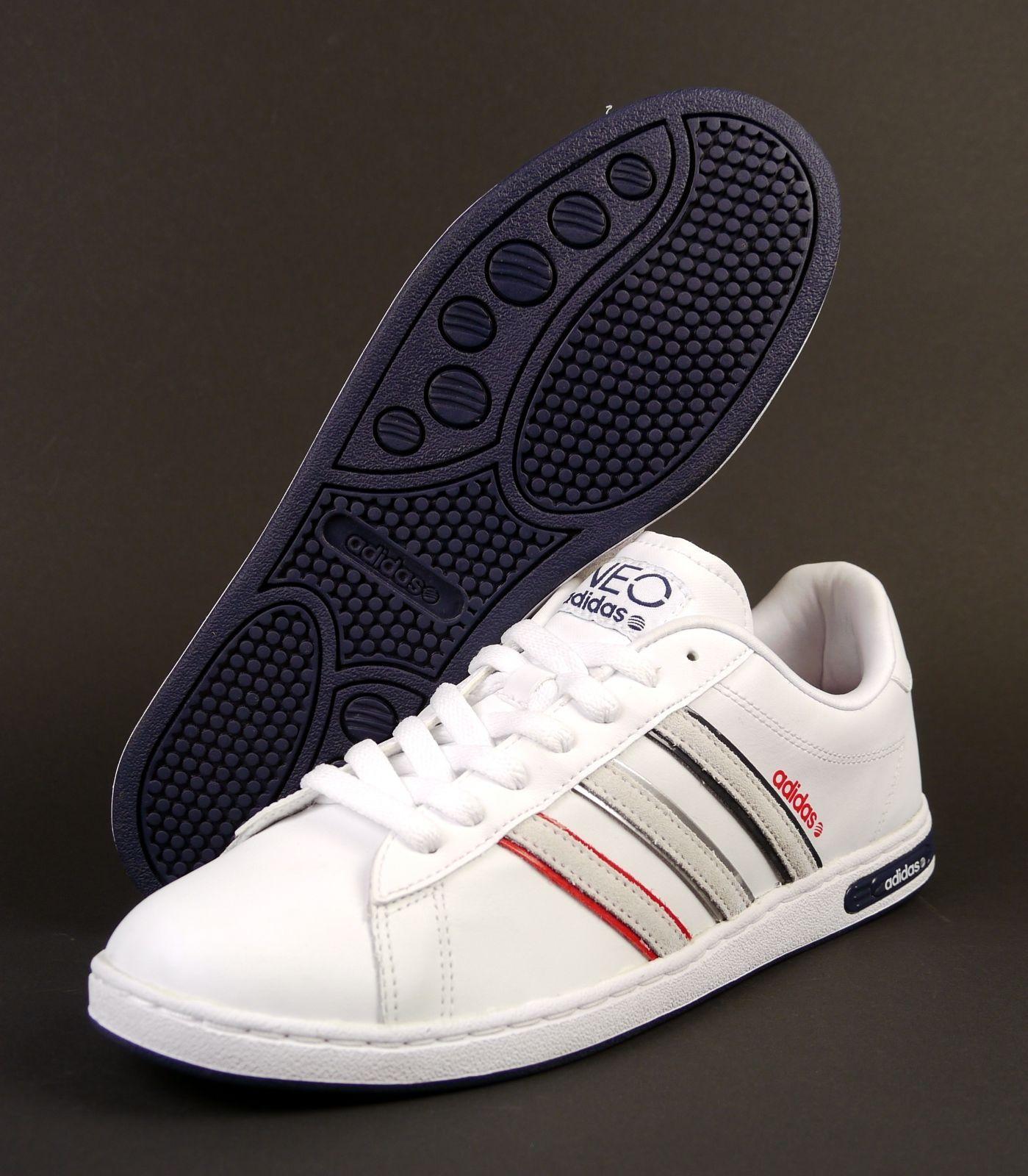 Adidas neo Derby II le hombres weiß formadores zapatilla Leder http: / / www
