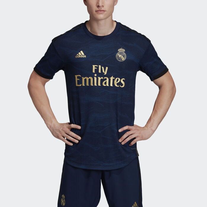 Real Madrid Away Authentic Jersey | Real madrid blue jersey, Real ...