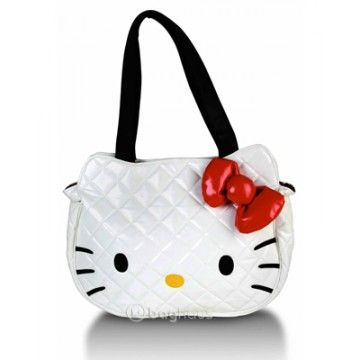 Baghaus   Hello Kitty   Quilted Face Bag in White   I have this bag ... f867deb2bc