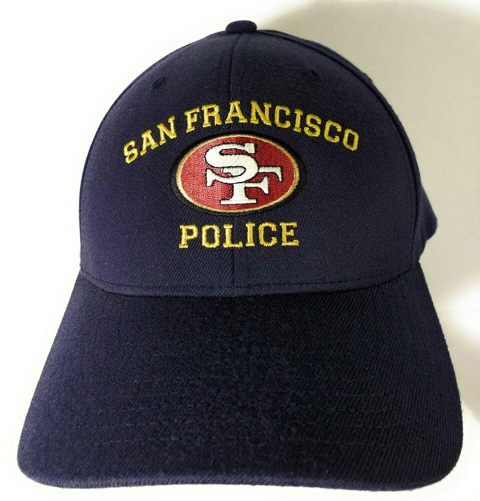 San Francisco Police SFPD Baseball Style Hat Cap Navy Blue