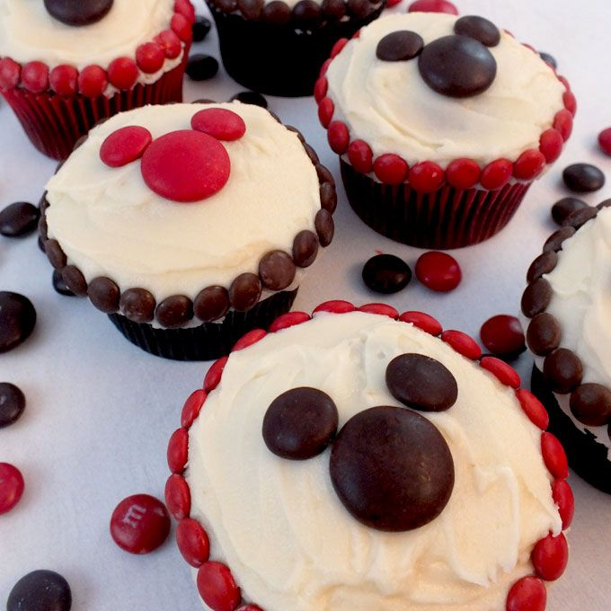 MM Mickey Cupcakes Mickey cupcakes Mickey mouse parties and