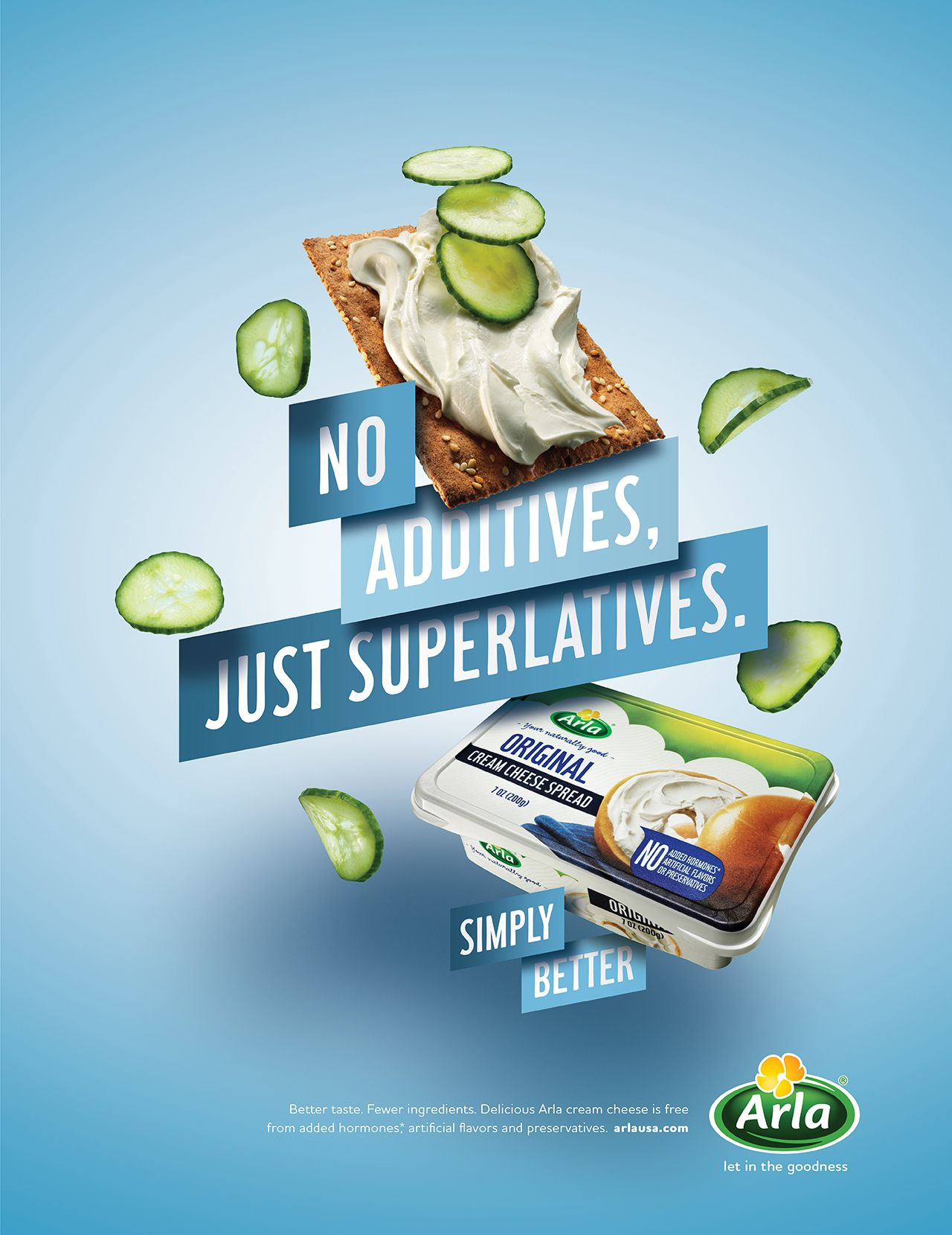 Print, poster and digital campaign introducing Arla cream ...