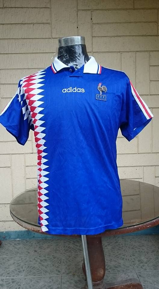 cheaper 3858d b8fa0 FRANCE 1994-1995 HOME JERSEY SHIRT MAILLOT | Collectible ...