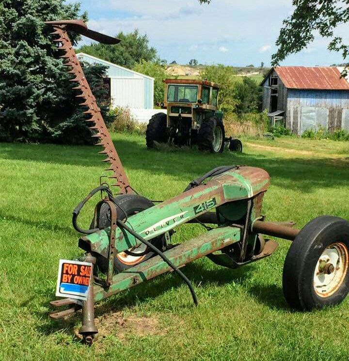 Oliver 415 balanced sickle mower vintage farm tools pinterest tractor for Sickle mower for garden tractor