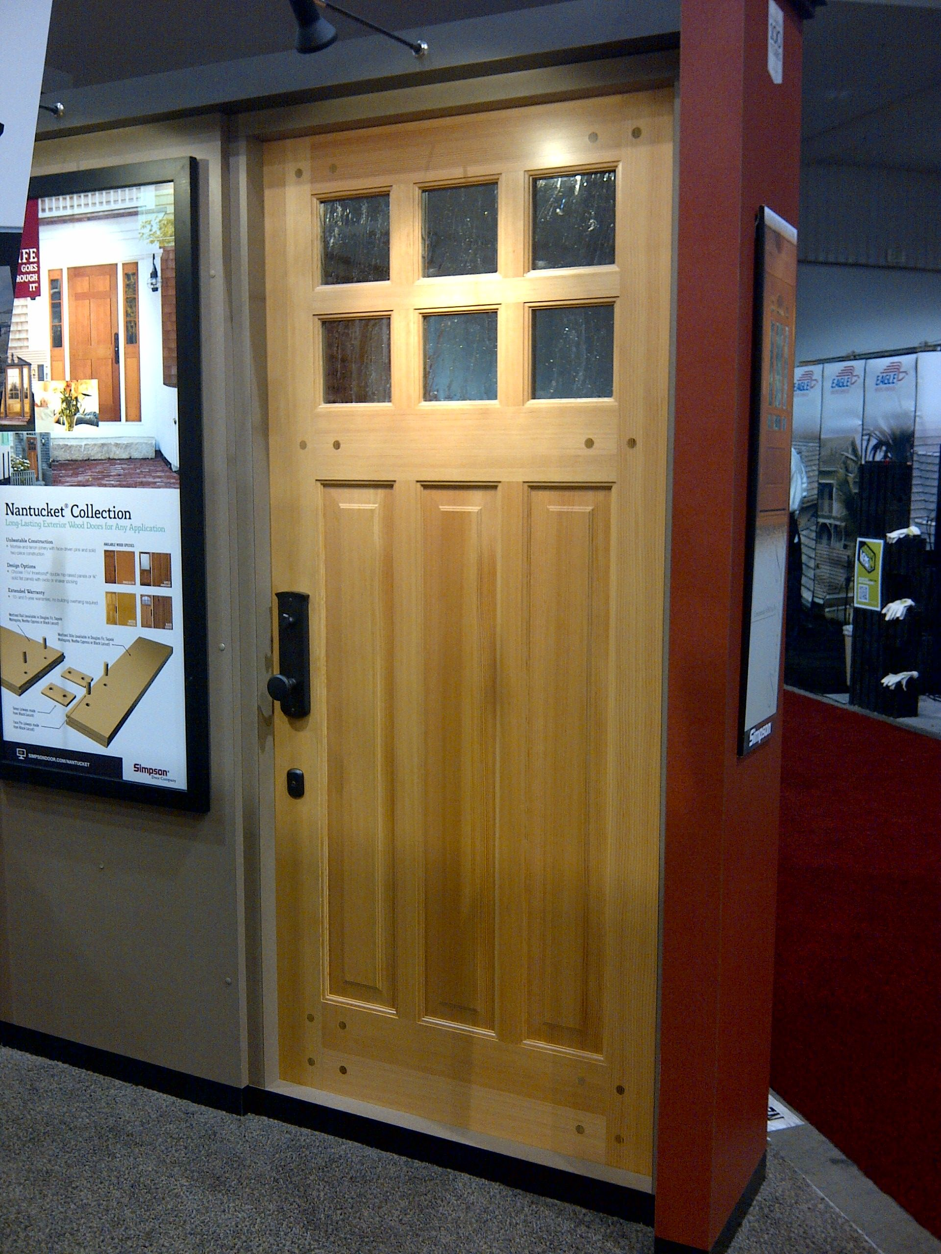 Simpson Nantucket Door Shown In Doug Fir