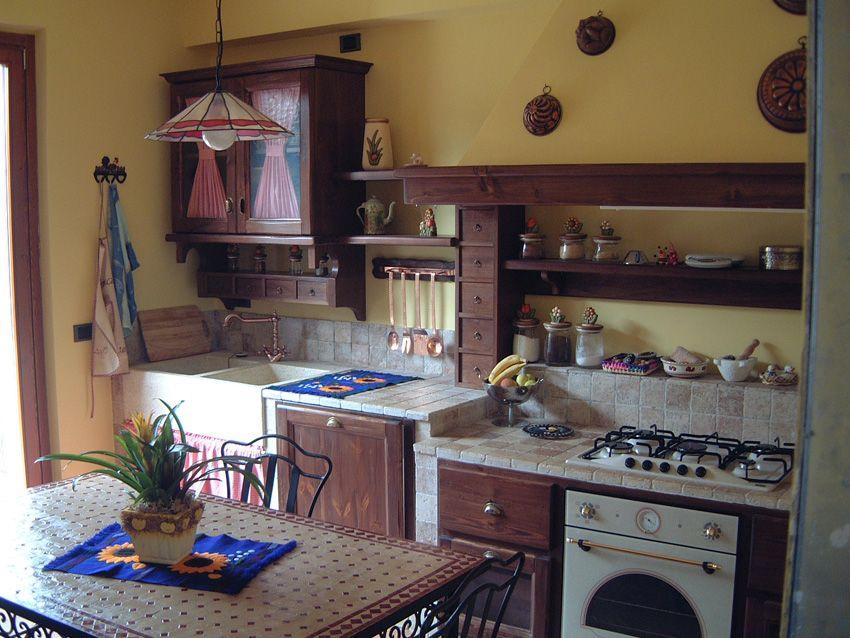 Cucina in muratura romantica - Camini Fai da Te - Camini ...