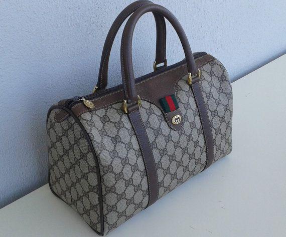 116598f4d2e Gucci vintage boston bag satchel purse by ALILALIA on Etsy