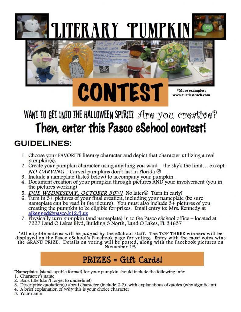 pumpkin decorating contest rules
