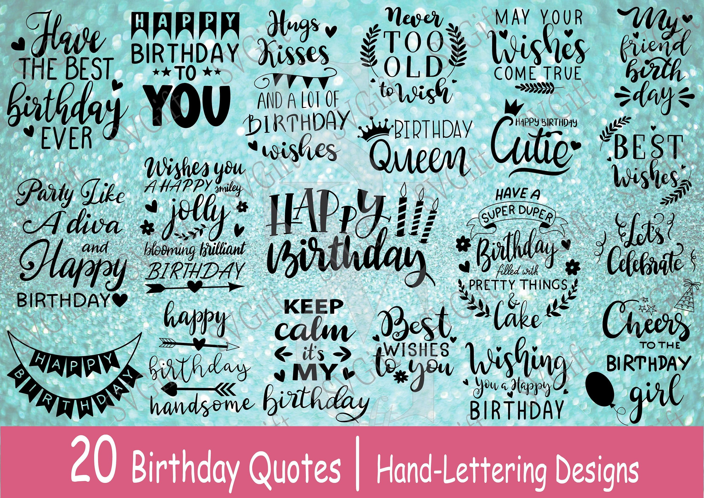 Birthday Bundle SVG