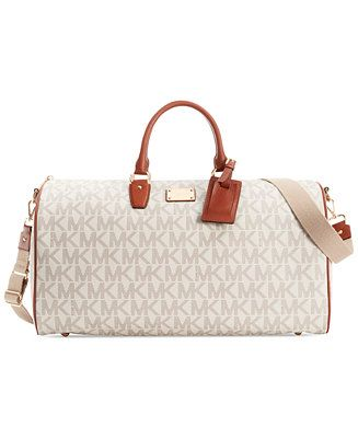 66a94111e82f MICHAEL Michael Kors Signature Large Weekender - Handbags & Accessories -  Macy's