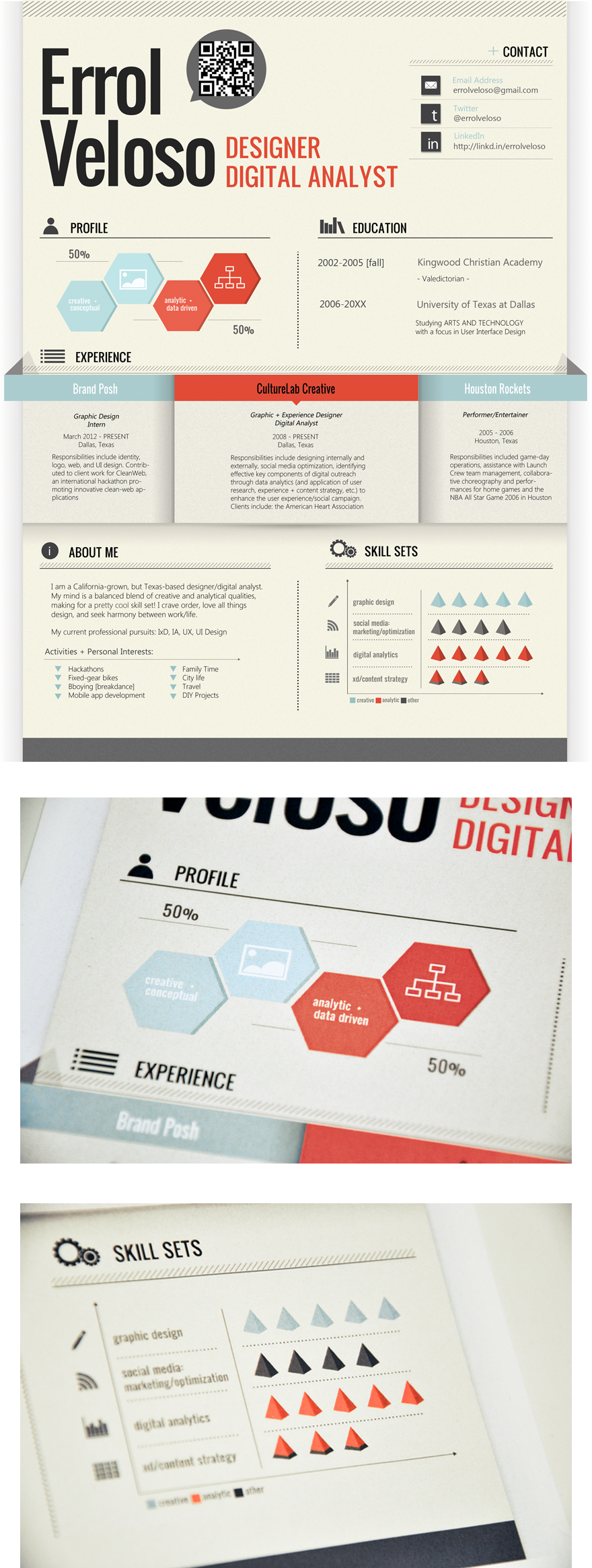 Infographic Resume By Errol Veloso Via Creattica  Infographics