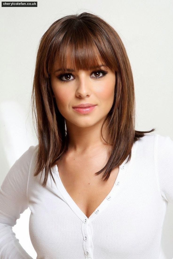 Hairstyles for medium length hair with bangs hairideasstylesand