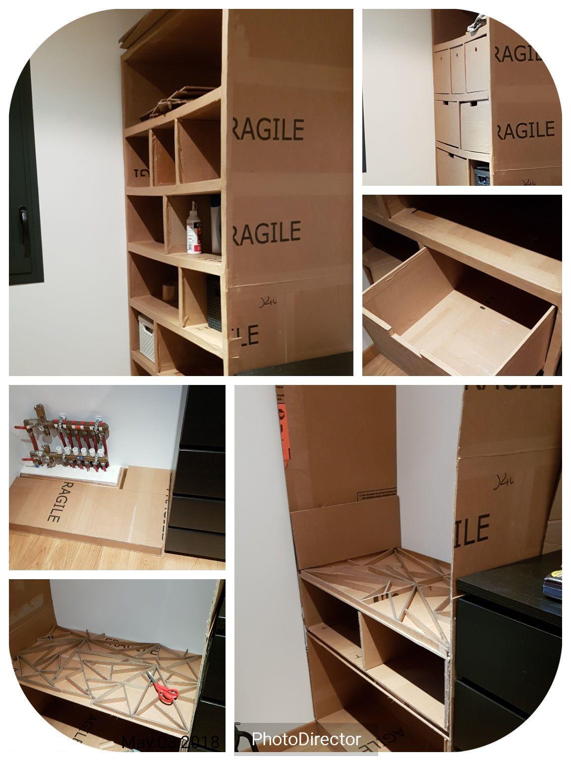 meubles en carton a faire soi meme fabriquer un meuble chaussure en carton comment faire. Black Bedroom Furniture Sets. Home Design Ideas