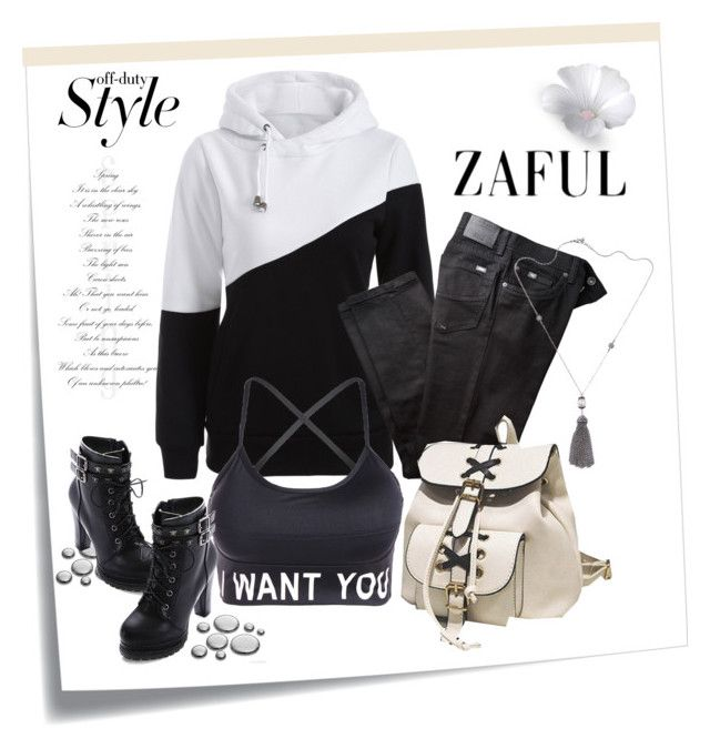 """""""www.zaful.com/?lkid=16701 no.1/I"""" by rose-99 ❤ liked on Polyvore featuring Post-It, BRAX and vintage"""