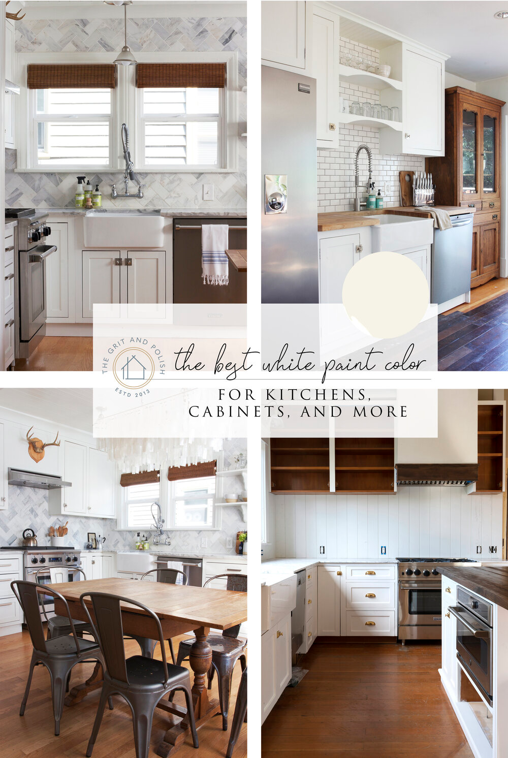 Our Favorite White Paint Color For Kitchens Cabinets The Grit And Polish White Kitchen Paint Kitchen Paint Colors White Paint Colors