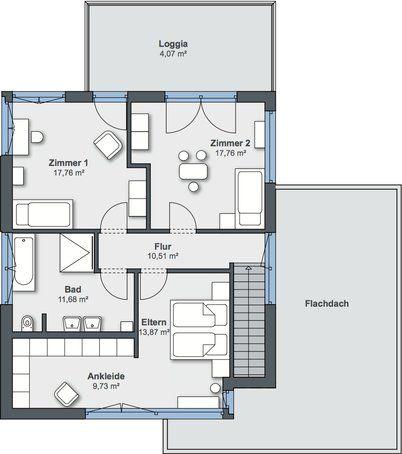 Entwurf City Life von WeberHaus Haus \ Bau zuhause3de Z - badezimmer grundriss planen