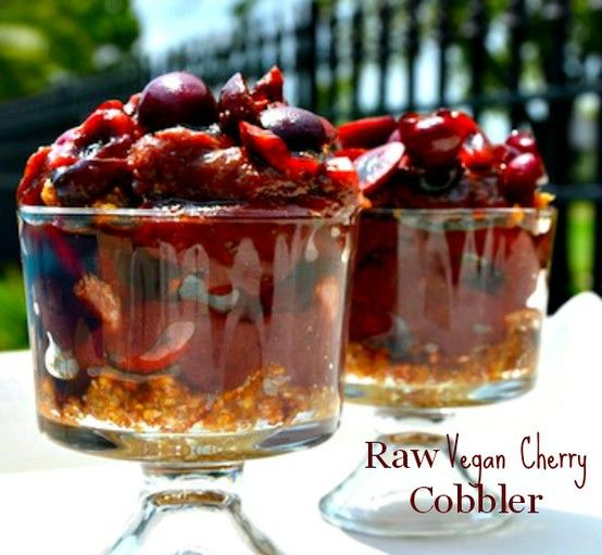 Low fat raw vegan southern charm cherry cobbler click for the low fat raw vegan southern charm cherry cobbler click for the recipe video forumfinder Image collections