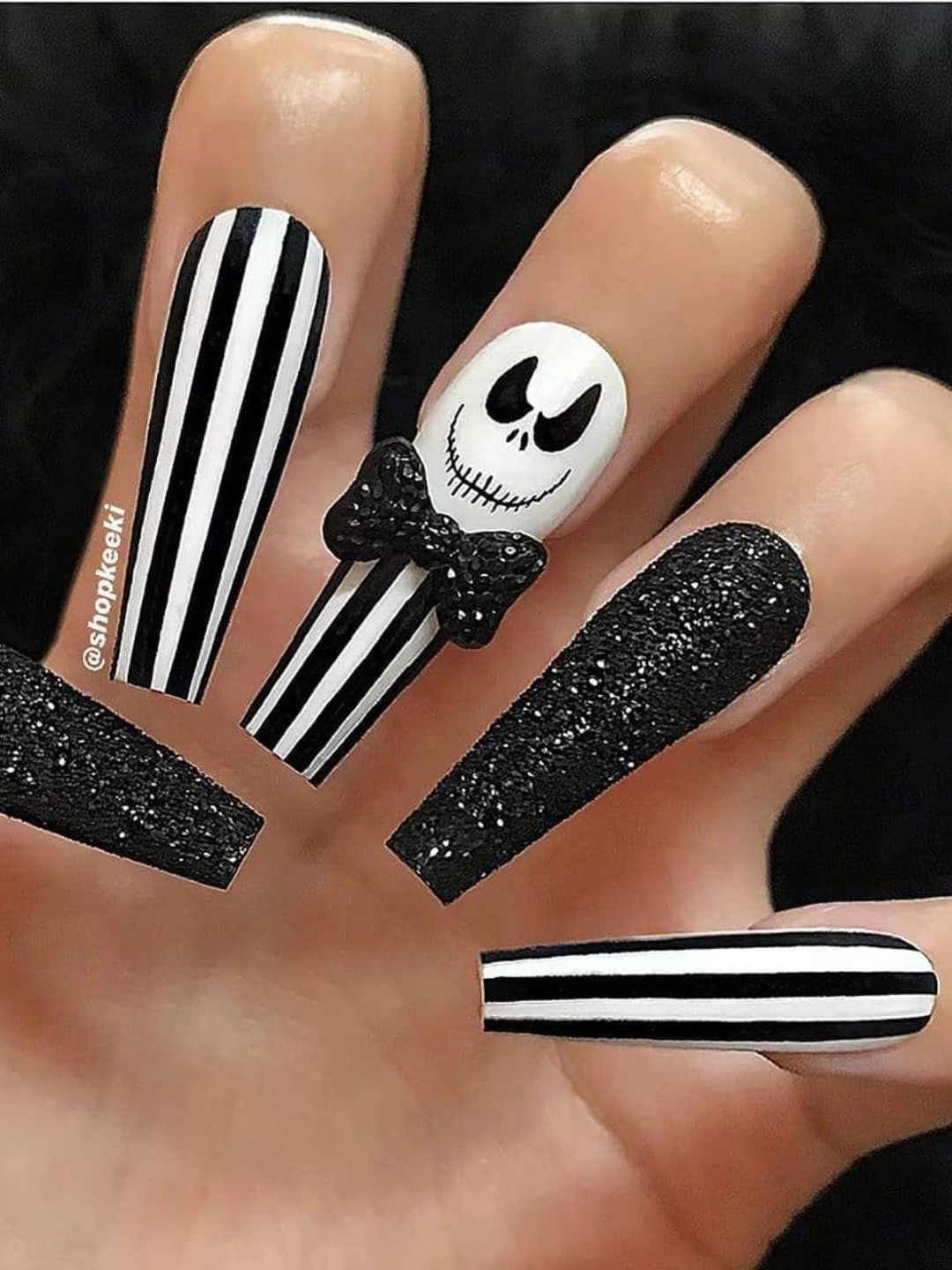 Best Halloween Nail Ideas in 2019 | Nightmare before ...