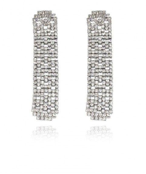 Stylelish Fleur Zircon Cristal Strass Goutte Crochet Dangle Boucles d/'oreilles Lady/'s Jewelry