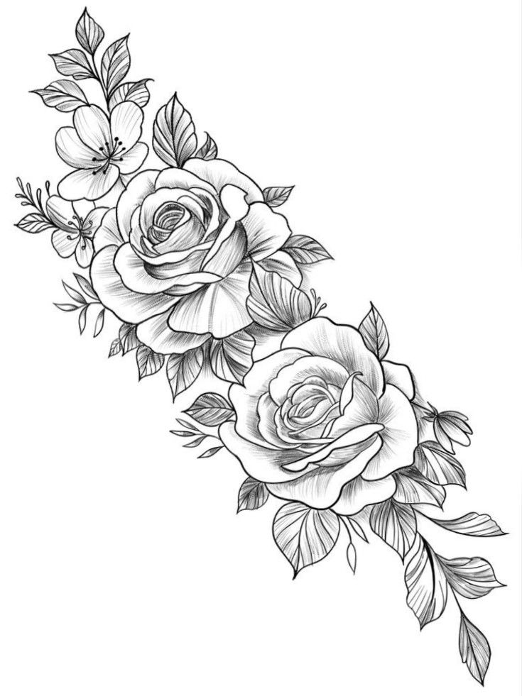 Pin By Dieguitonn On Tattoo In 2020 Tattoos Rose Tattoos For Women Floral Tattoo Sleeve