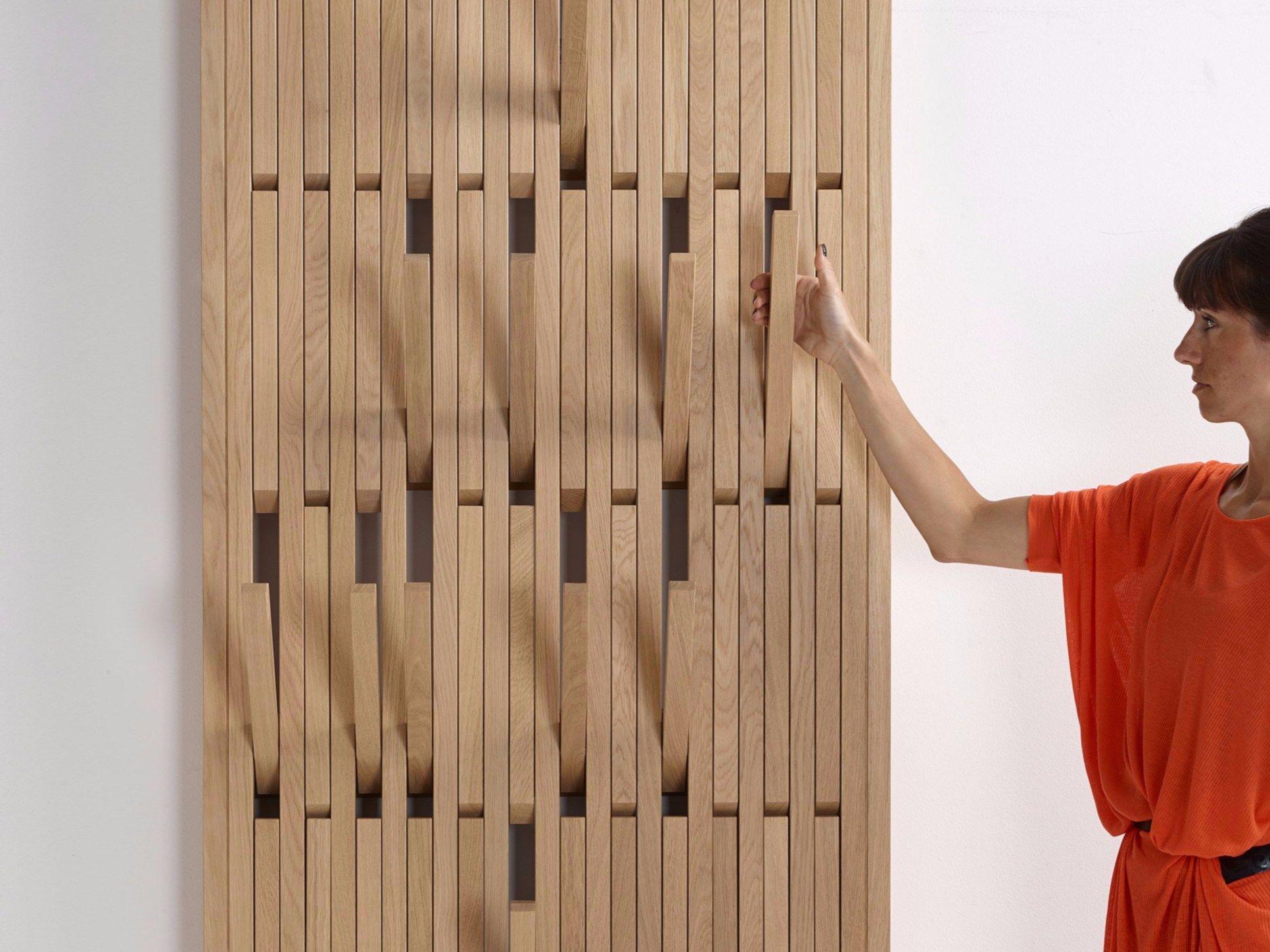 wall mounted oak coat rack piano oak by