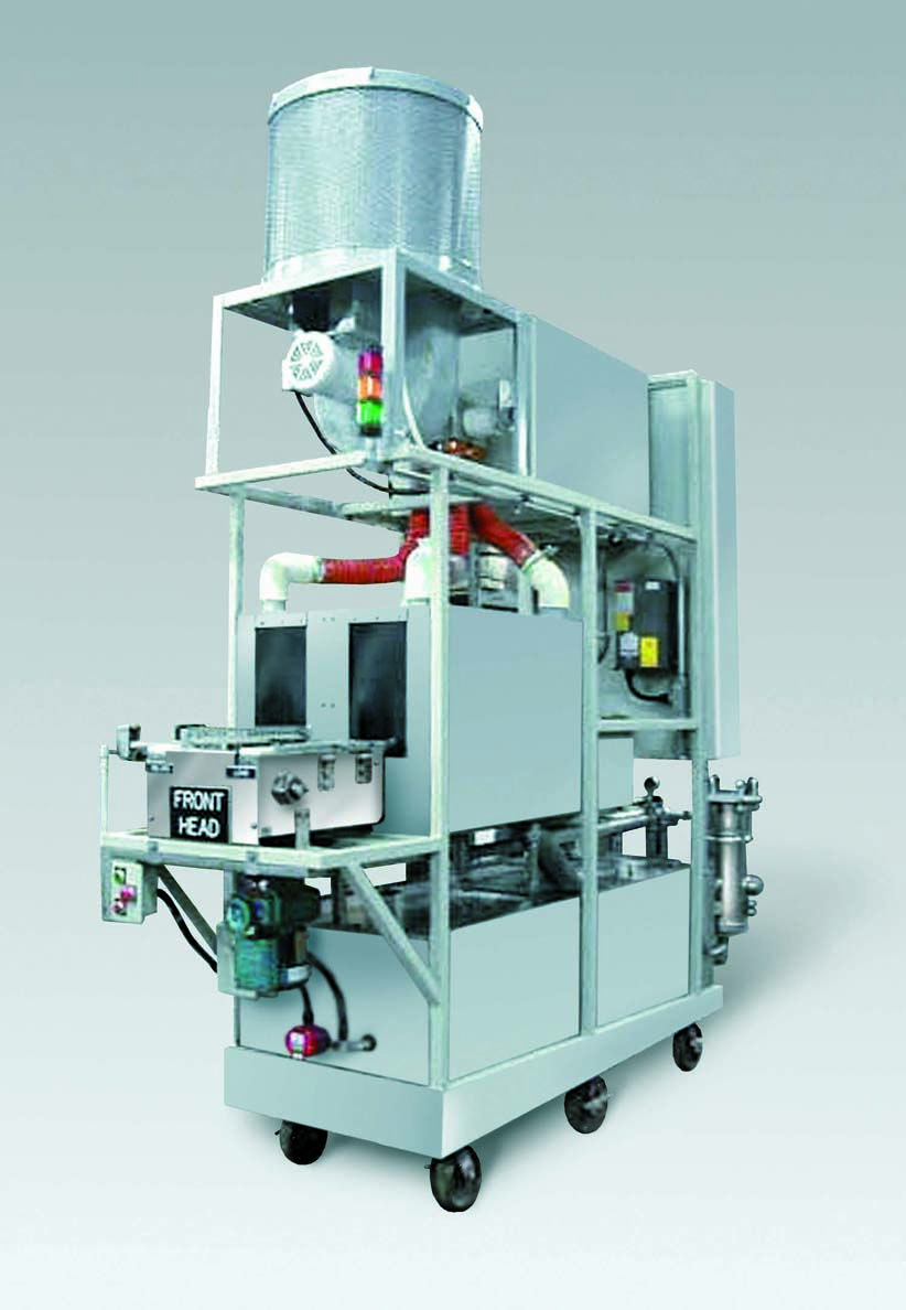 RTO1000 work cell parts washer designed to clean air
