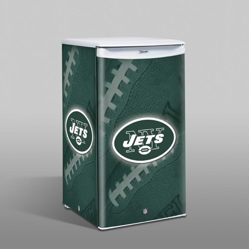 keep your beers perfectly cold with our new york jets mini fridge