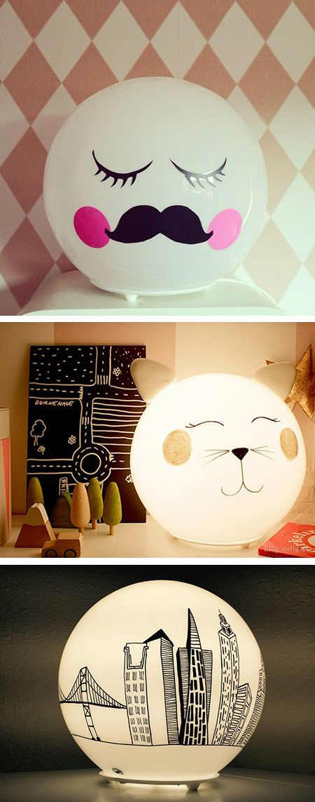 Customiser la lampe boule