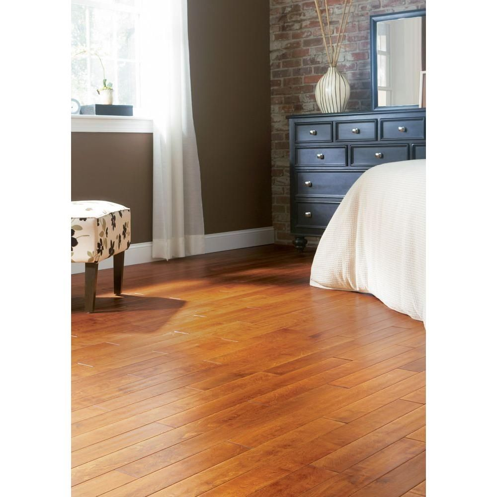 Home Legend Hand Scraped Maple Sedona 3 4 In Thick X 3 1 2 In Wide X Random Length Solid Hardwood Flo Solid Hardwood Floors Home Engineered Hardwood Flooring