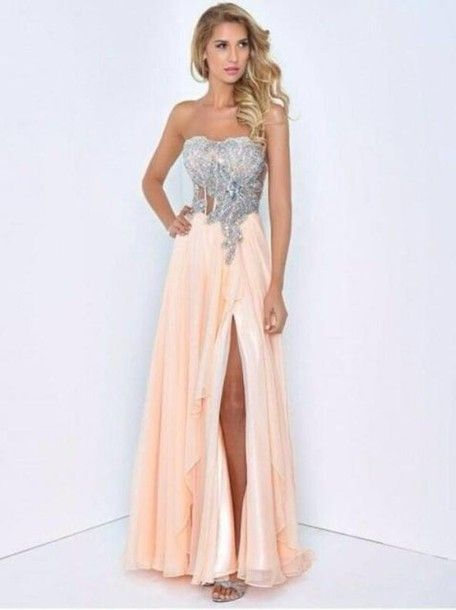 coral prom dresses | ... prom dress coral dress silver sequence ...