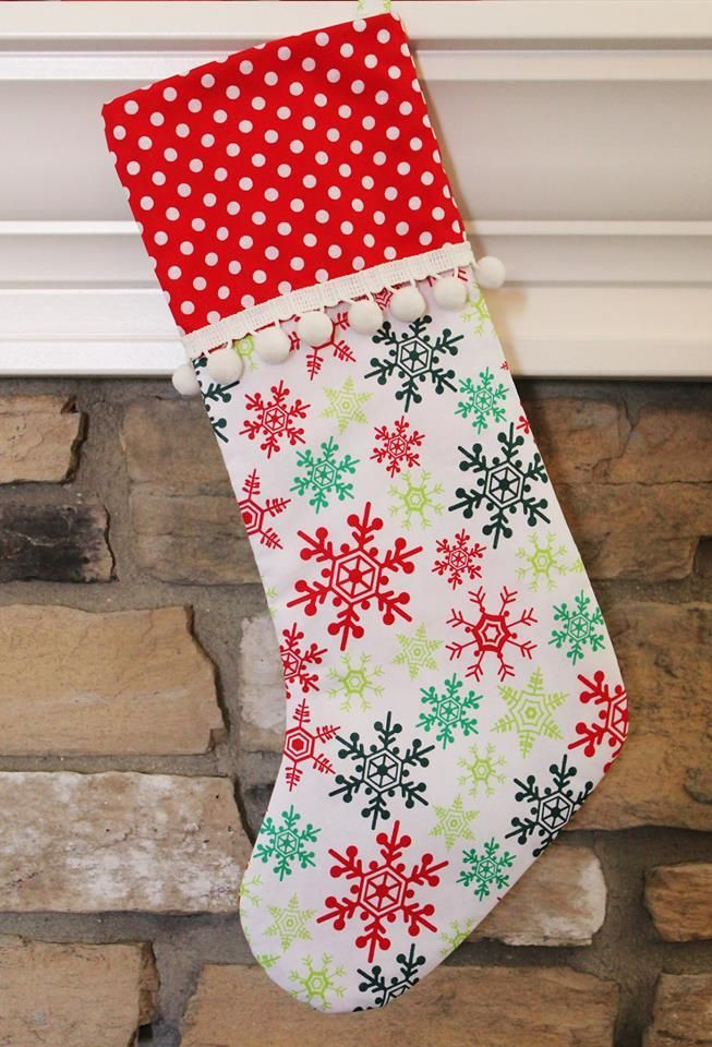Merry & Bright Stocking PDF Sewing Pattern by Ellie and Mac | Free ...