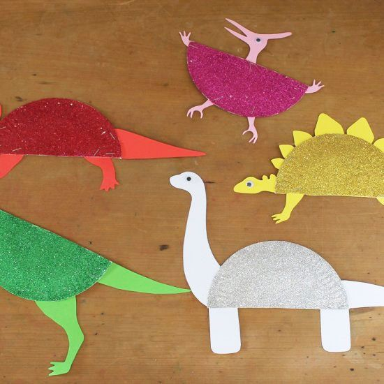 Create a range of sparkly dinosaurs with paper plates glitter and our free printable templates & Create a range of sparkly dinosaurs with paper plates glitter and ...