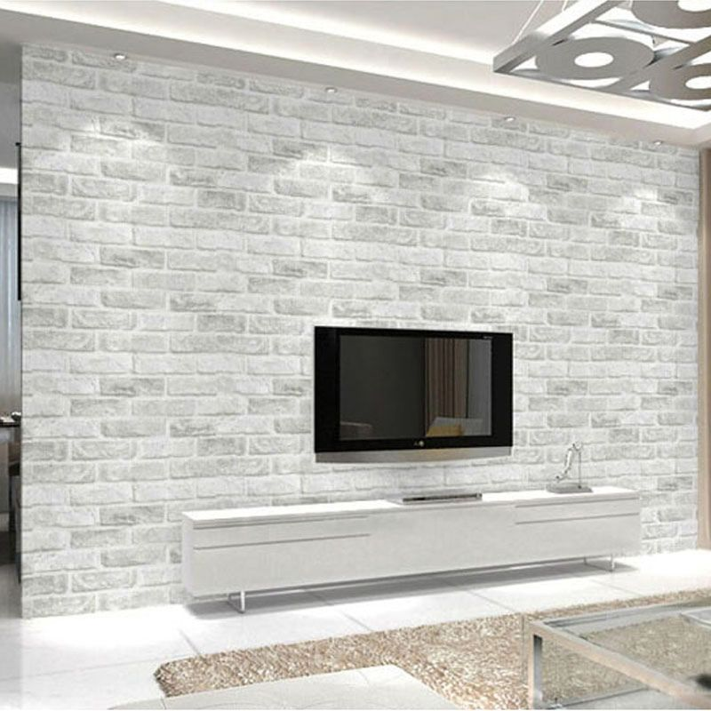 3D PVC Deep Embossed Foam Brick Wallpaper Modern Vinyl ...