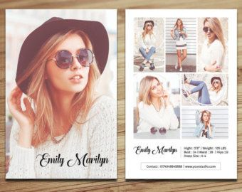 Modeling Comp Card Template Fashion Model Comp Card Ms Word Photoshop And Elements Template Instant Download Mc 15 Model Comp Card Model Headshots Card Templates Free