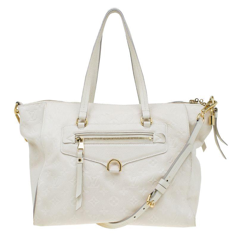 66ed39bb260 Louis Vuitton White Monogram Empreinte Leather Lumineuse PM Bag -  968 (reg   2400)