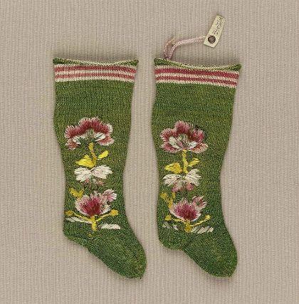 Pair of infant's stockings, Italian 1650-1750, @ MFA Boston