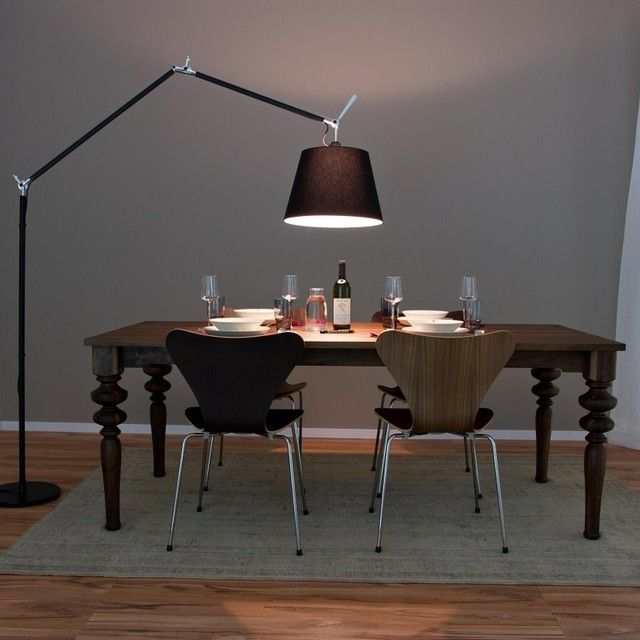 Artemide Tolomeo Mega Lampadaire Noir Avec Variateur Lampada Ad Arco Lampade Idee Arredamento Soggiorno