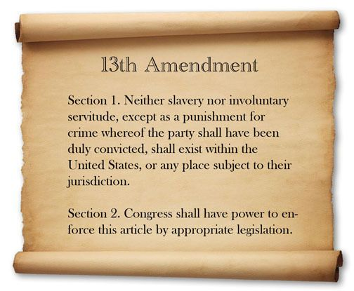 13th Amendment To The Constitution Of The Us 13 14 Amendment