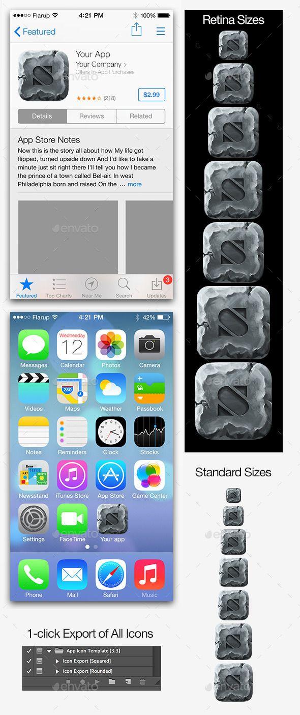 Stone iOS Icon Maker Ios icon, Icon generator, Icon