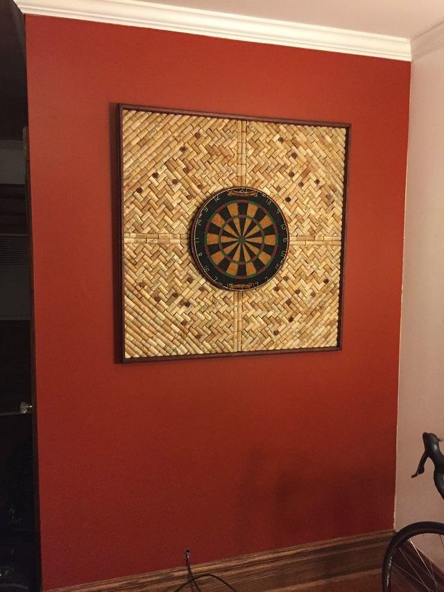 diy wine cork backed dartboard in 2020 wine cork crafts on inspiring workspace with a cork wall creating a custom cork board for your home id=17221