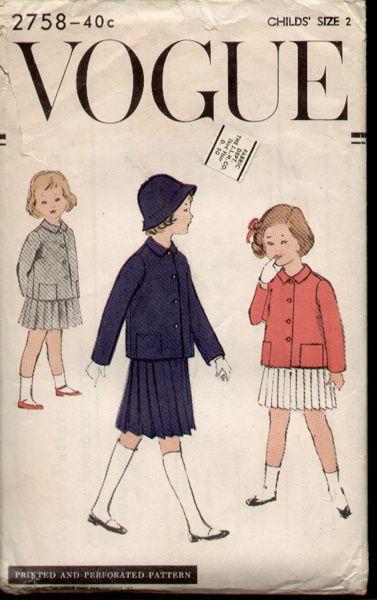 Vogue 2758 A - Vintage Sewing Patterns