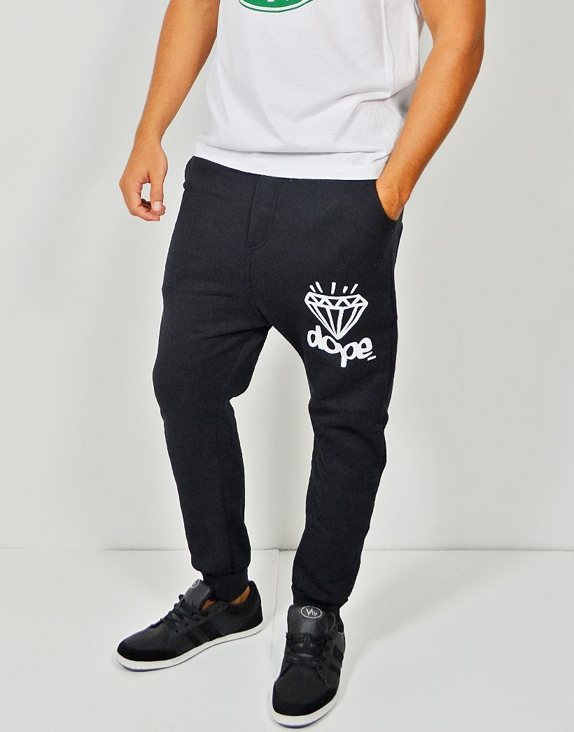 Pantalón de chándal pitillo estilo baggy con estampado Dope Diamond para  hombre. Compra online pantalones aec1891c74f