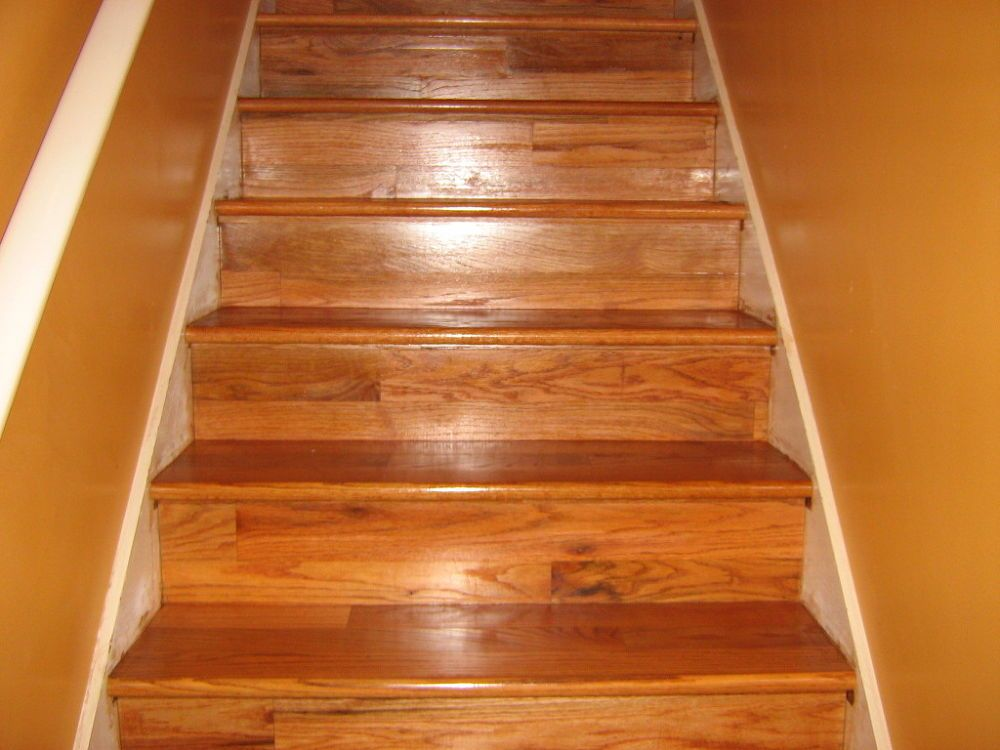 Best Hardscraped Hardwood Floor Steps Risers Installed And Finished Types Of Wood Flooring 400 x 300