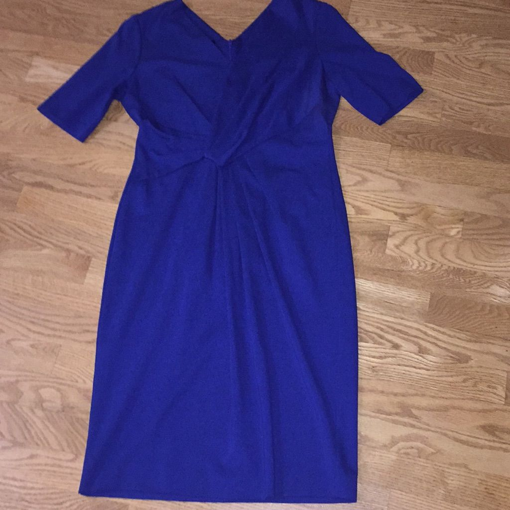 Amazing escada royal blue rouched dress products