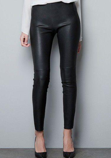 8286abcf1d Black Side Zipper PU Leather Skinny Pants - Sheinside.com | Fashion ...